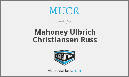 What does MUCR stand for?