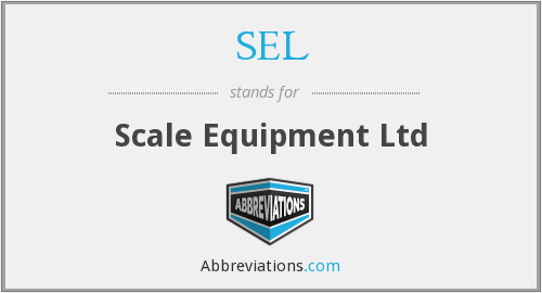SEL - Scale Equipment Ltd