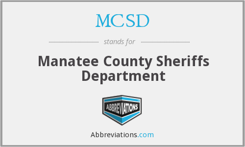 MCSD - Manatee County Sheriffs Department