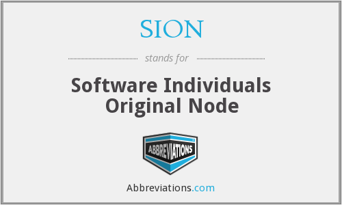 What does SION stand for?