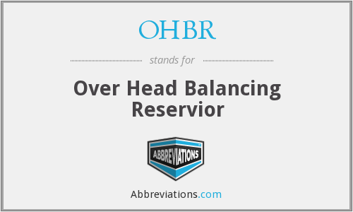 OHBR - Over Head Balancing Reservior