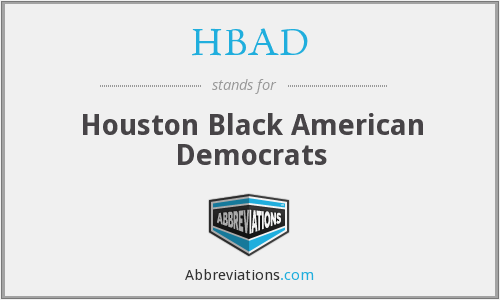 What does HBAD stand for?