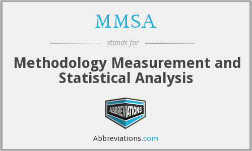 MMSA - Methodology Measurement and Statistical Analysis
