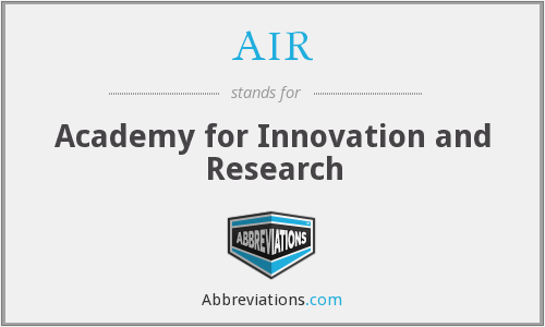 AIR - Academy for Innovation and Research