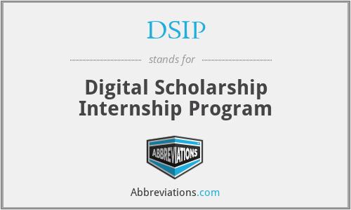 DSIP - Digital Scholarship Internship Program