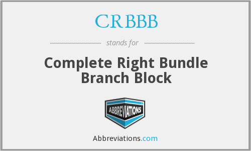 What does CRBBB stand for?