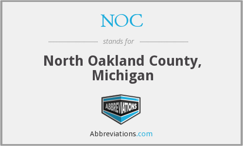 NOC - North Oakland County, Michigan