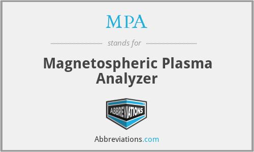 MPA - Magnetospheric Plasma Analyzer