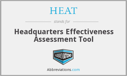 HEAT - Headquarters Effectiveness Assessment Tool
