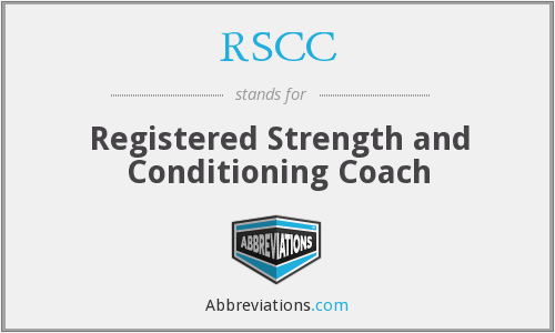 RSCC - Registered Strength and Conditioning Coach