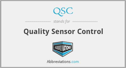 QSC - Quality Sensor Control