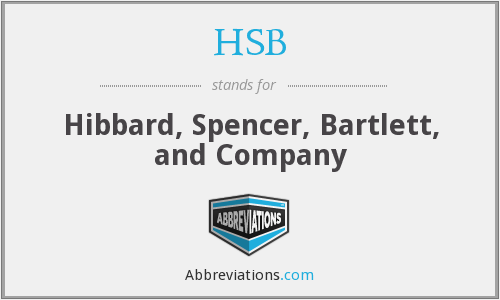 HSB - Hibbard, Spencer, Bartlett, and Company
