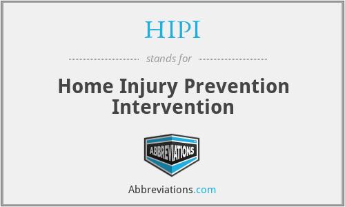 HIPI - Home Injury Prevention Intervention