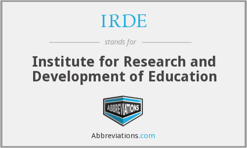 IRDE - Institute for Research and Development of Education
