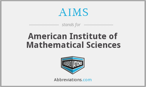 AIMS - American Institute of Mathematical Sciences