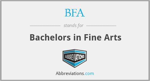 BFA - Bachelors in Fine Arts