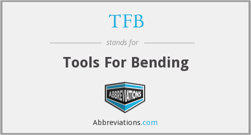 TFB - Tools For Bending