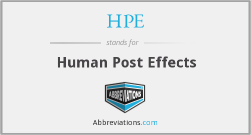 HPE - Human Post Effects