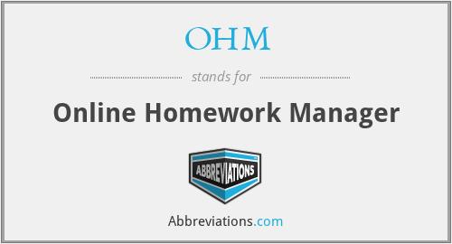 OHM - Online Homework Manager