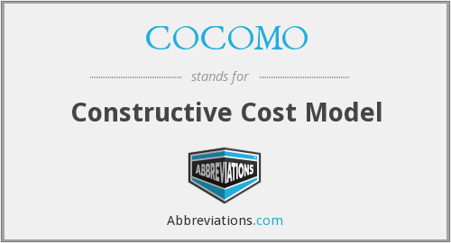 COCOMO - Constructive Cost Model
