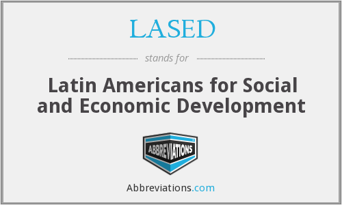 LASED - Latin Americans for Social and Economic Development