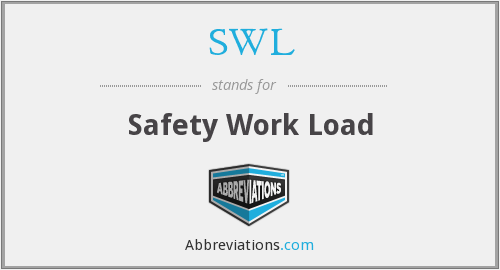 SWL - Safety Work Load