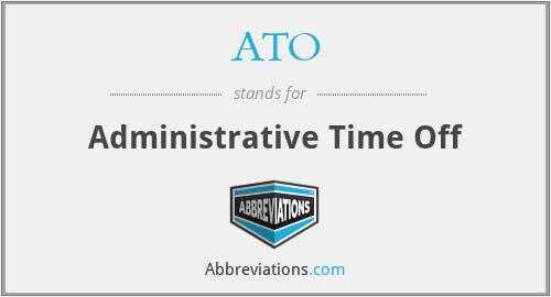 ATO - Administrative Time Off