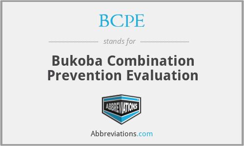 BCPE - Bukoba Combination Prevention Evaluation
