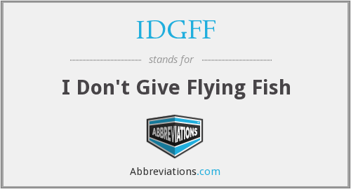 What does IDGFF stand for?