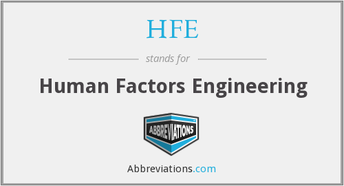 HFE - Human Factors Engineering