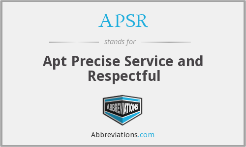 APSR - Apt Precise Service and Respectful