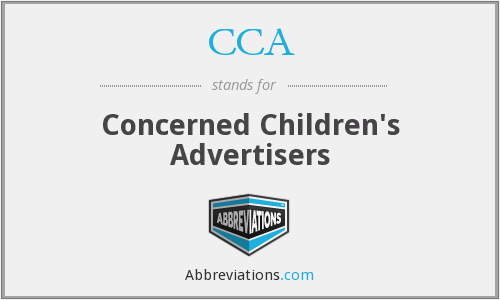 CCA - Concerned Children's Advertisers