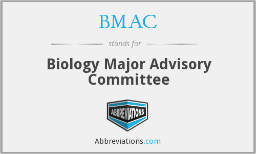 BMAC - Biology Major Advisory Committee