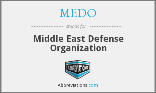 What does MEDO stand for?