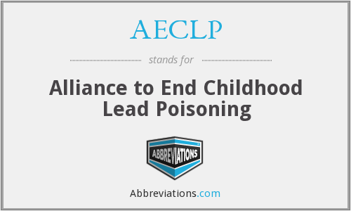 AECLP - Alliance to End Childhood Lead Poisoning