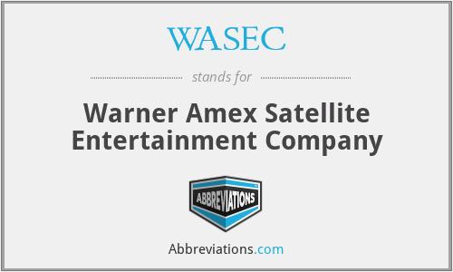 WASEC - Warner Amex Satellite Entertainment Company