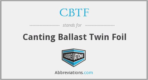 CBTF - Canting Ballast Twin Foil