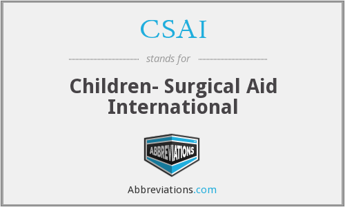CSAI - Children- Surgical Aid International