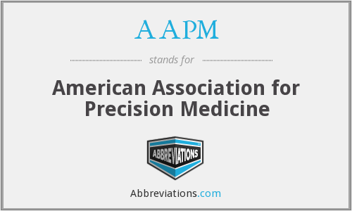 What does AAPM stand for?