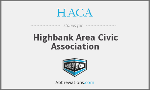 HACA - Highbank Area Civic Association