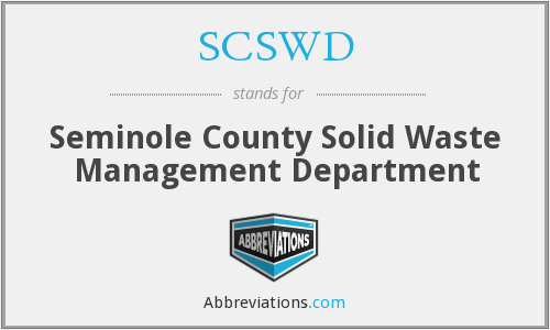 SCSWD - Seminole County Solid Waste Management Department