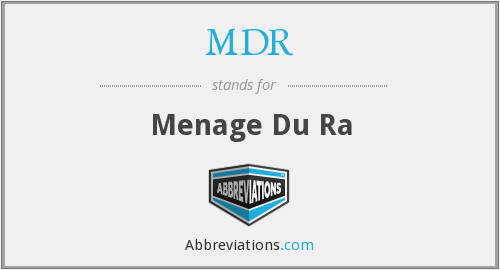 What does ménage stand for?