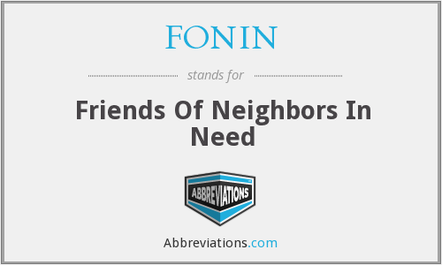 What does FONIN stand for?