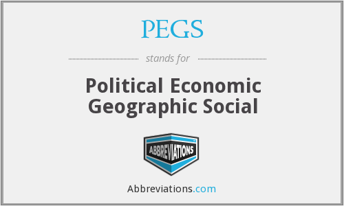 PEGS - Political Economic Geographic Social