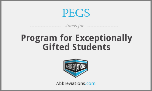 PEGS - Program for Exceptionally Gifted Students