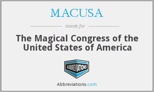 MACUSA - The Magical Congress of the United States of America