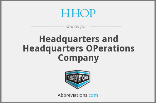 What does HHOP stand for?