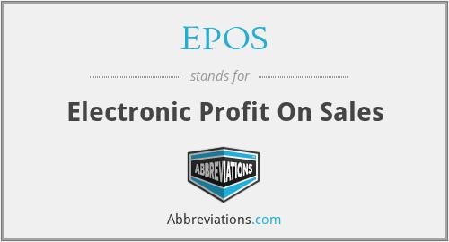EPOS - Electronic Profit On Sales