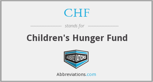 CHF - Children's Hunger Fund