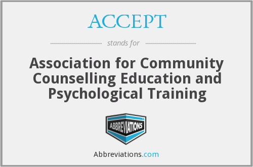 ACCEPT - Association for Community Counselling Education and Psychological Training